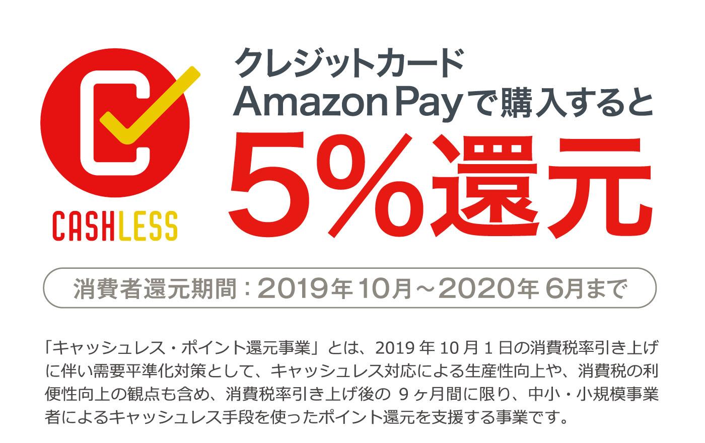 クレジットカード Amazon Pay で購入すると5%還元